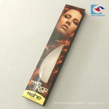caja de empaquetado de paquete de extensión de pelo personalizado gratis