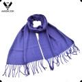Damen-reine Farbe gesponnener preiswerter einfacher Schal für Großverkauf
