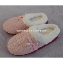 2015 cheap shoe slipper knitting indoor lady slipper