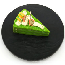 """5""""Black Stone Plate Plastic Plate Disposable Tray"""