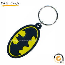 Oval Shaped Cool Gummi Schlüsselanhänger Großhandel Ym1126