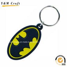 Ovale en forme Cool porte-clés en caoutchouc gros Ym1126