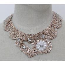 Mulher fashion bijuterias bracelete de gargantilha de coração de lantejoulas (je0140)