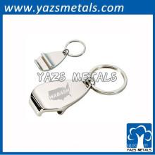 laser engrave metal bottle opener keyring