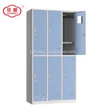 Armário do metal do vestuário do armário do metal de 6 portas
