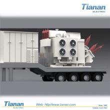 Notstromversorgung Verteilung Bewegliche Transformator-Unterstation / 35kv ~ 132kv Vorgefertigte mobile Umspannwerk