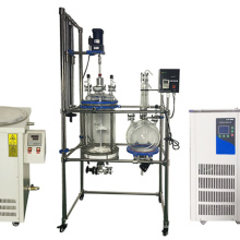20L Chemical crystel Reactor Filter Glass Reactor With Collecting Bottle