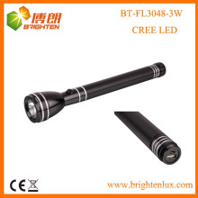Factory Supply CE Rohs 3SC Nicd batterie alimentée Puissant Aluminium Long Beam usa cree xpe 3w led usb Rechargeable Flashlight