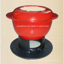 Ce Qualifed Gusseisen Fondue Set Preis China Factory