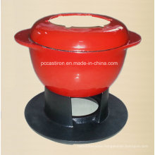 Ce Qualifed Cast Iron Fondue Set Price China Factory