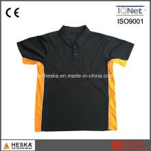 Cooldry trabalho de Mens Polo camisa de poliéster