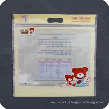 Saco de embalagem de plástico promocional reutilizável com zíper