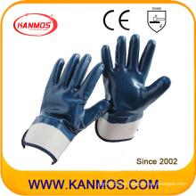 Anti-Cutting Nitrile Jersey Guante de trabajo de seguridad industrial con el manguito de seguridad (53004)