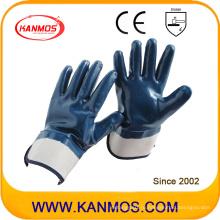 Защитные нитриловые трикотажные перчатки для промышленной безопасности с защитной манжетой (53004)