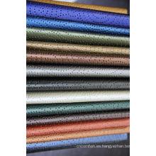 buen patrón de resistencia a las manchas húmedo de cuero PU perforado
