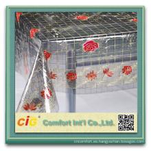 Precio barato imprime pvc paño cristal pvc mesa mantel