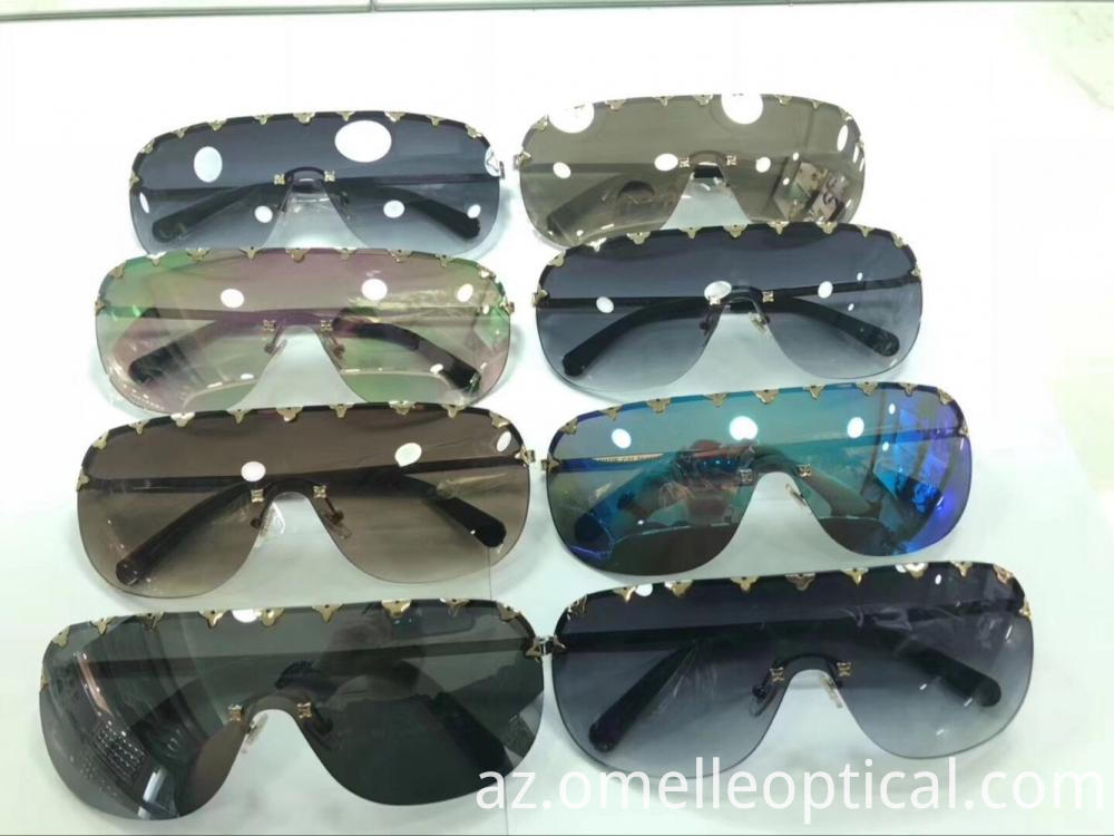 Rimless Goggle Sunglasses