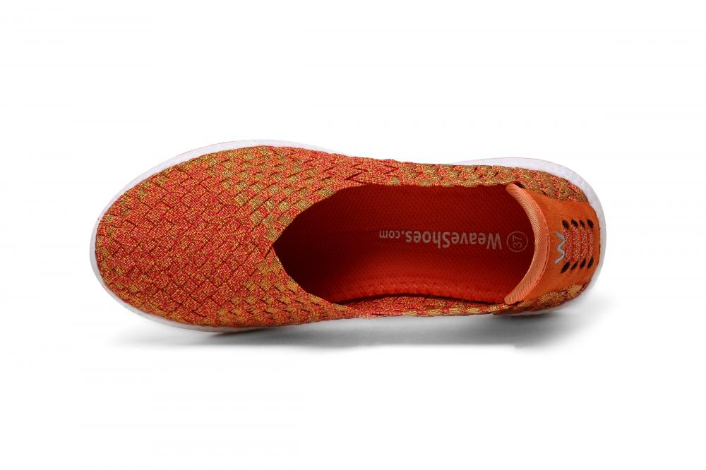 V-Shaped Throat Woven Slip-Ons