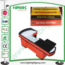 Divisor de plástico de checkout de mercearia com impressão