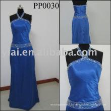 2010 производство сексуальные бисером шелковое вечернее платье PP0030