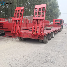 60ton Low Bed Truck Trailer مع 3 محاور