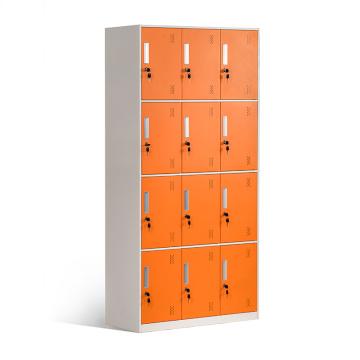 Armarios de acero de 12 puertas para vestuario