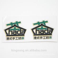 custom size, shape, printing food logo sticker, self adhesive glue