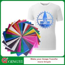 Qingyi hot sale glitter vinyl heat transfer sheets for garment