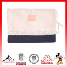 bolso de embrague de la lona de la moda superior para el bolso del negocio del hombre y de las mujeres