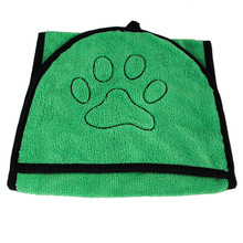 Pet absorbent bath towel cat dog glove