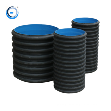 Manufacture Double Wall Large Diameter Corrugated Hdpe Tube Price Drainage Water Pipe