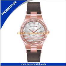 Reloj de lujo del regalo del Rhinestone de la manera del reloj de la marca de fábrica 2016 de las mujeres