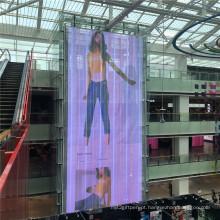 Telão LED digital de publicidade transparente de boa qualidade