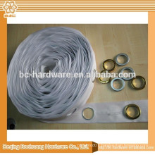 42mm white eyelet curtain tape, curtain tape with holes 42mm