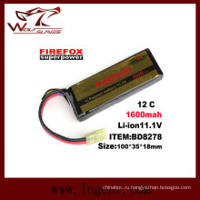 Firefox-1600mAh 11.1V 12 c мощность Li-Po батарея Li-Polymer