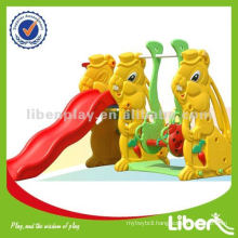 Outdoor Kids Plastic Slide With Swing LE-HT006
