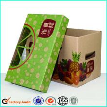Luxus Frucht Karton Boxen Äpfel Erdbeeren