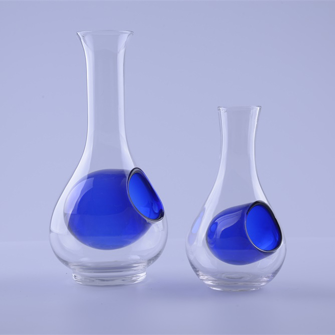 blue Sake Set Glass Ice Cold Drinking Glass