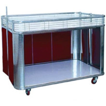 Mesa de venta carro de supermercado promoción escritorio acero exhibición