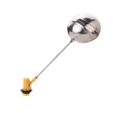 Válvula de bola flotante de latón accionada, válvula de bola flotante de latón J5007, latón / bola de pvc