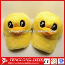 2015 Sombreros de encargo del snapback del pato del pato del amarillo del juguete de la felpa