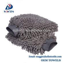 Luva impermeável da lavagem do luxuoso da limpeza do Chenille de Microfiber da luva da lavagem de carros de 100%
