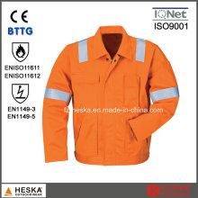 Segurança reflexivo Workwear Mens jaqueta flama-retardador