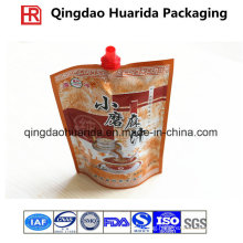 Aluminum Foil Plastic Packaging Spices/Sauce Bag with Spout