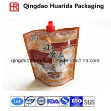Пластичный упаковывать алюминиевой фольги специи/соус сумка с носиком