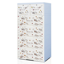 Fashion Printing Design PP Storage Drawer Cabinet for Home (HW-L711)