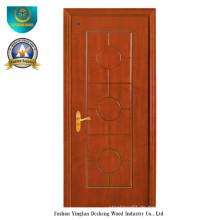 Chinesische Art HDF Tür für Eingang mit brauner Farbe (DS-096)