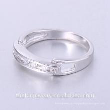 Заказ по почте принять новый дизайн золотой палец кольцо 18k золото кольцо-головоломка с красочными циркон Родием ювелирные изделия-это ваш хороший выбор