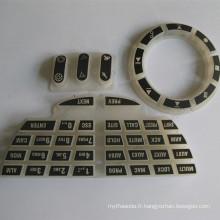 Couverture en caoutchouc de clavier de clavier de caoutchouc d'élastomère fait sur commande