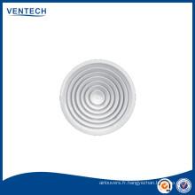 D'alimentation rond plafond diffuseur d'Air avec clapet en plastique en option
